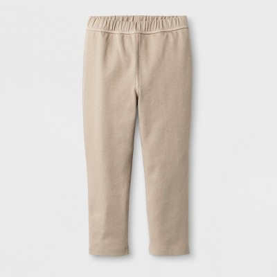Toddler Girls' Adaptive Uniform Ponte Pants - Cat & Jack™ Tan