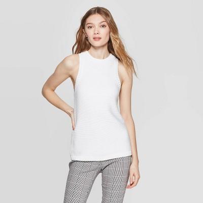 Women's Sleeveless Crewneck Halter Sweater Tank Top - A New Day™