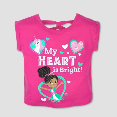 Toddler Girls' Nickelodeon Nella the Princess Knight Short Sleeve T-Shirt - Pink