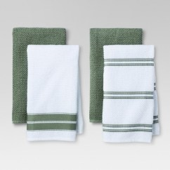 Gray Kitchen Towels Copper Accessories 4pk Green Stripe Towel Threshold Target About This Item