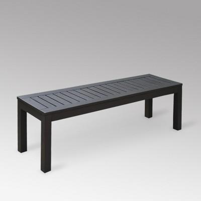 alfresco wood patio backless bench cambridge casual