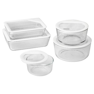 Pyrex 10pc Ultimate Glass Lid Set White