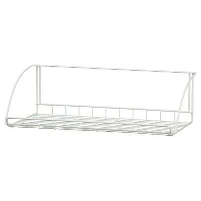 "ClosetMaid 24"" Wall-Mounted Wire Utility Shelf - White"