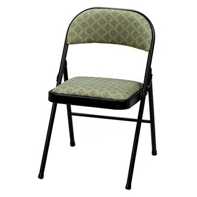 cloth padded folding chairs oversized beach 4 piece deluxe fabric chair black lace frame and zuni about this item