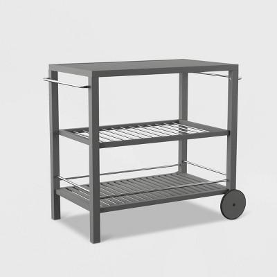 outdoor patio bar cart gray sei