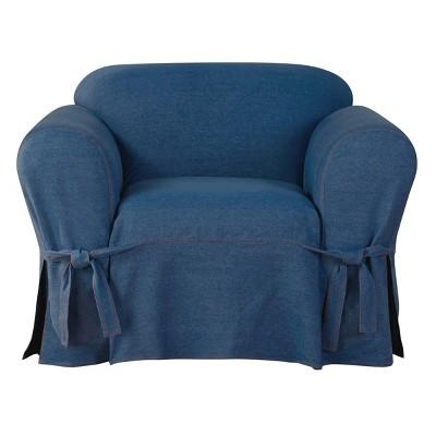 Authentic Denim Chair Slipcover Indigo - Sure Fit