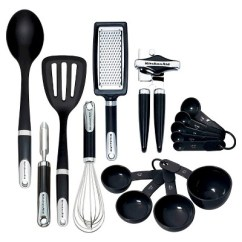 Kitchen Spoon Undermount Sinks At Lowes Kitchenaid Tools And Gadgets 15pc In Set Black Target