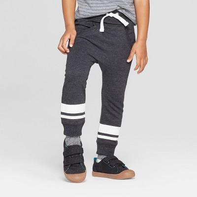 Toddler Boys' Slouchy Kanga Front Pockets Jogger Pants - Cat & Jack™ Black
