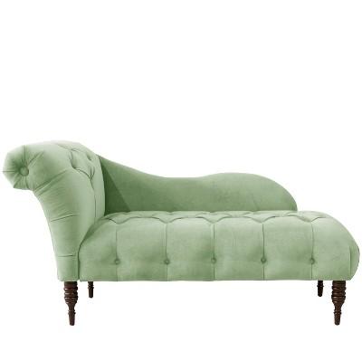 chaise lounge in lulu sage green skyline furniture