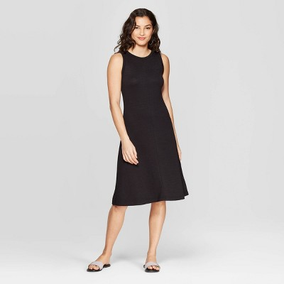 Women's Sleeveless Crewneck Knit Dress - A New Day™ Black