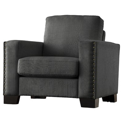 Carnegie Hill Nailhead Arm Chair - Inspire Q