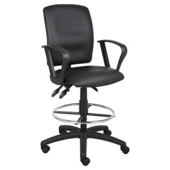 Drafting Office Chair Desk Home Goods Multi Function Leatherplus Stool With Adjustable Arms Black Boss Products Target