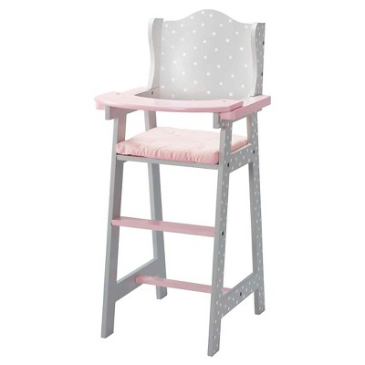baby doll high chairs desk chair utm olivia s little world furniture gray polka dots target
