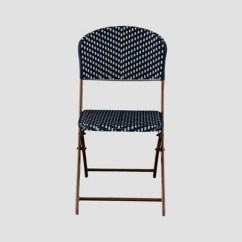 White Folding Chairs Upholstered Dining Canada French Caf 233 Wicker Patio Bistro Chair Navy Threshold Target