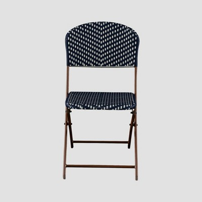 cafe rattan french bistro chairs leather chair images wicker folding patio navy white threshold