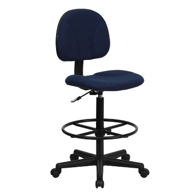 stool chair adjustable sure fit covers target ergonomic drafting navy blue flash furniture