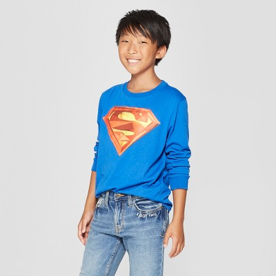 Boys' Superman Long Sleeve Graphic T-Shirt - Blue