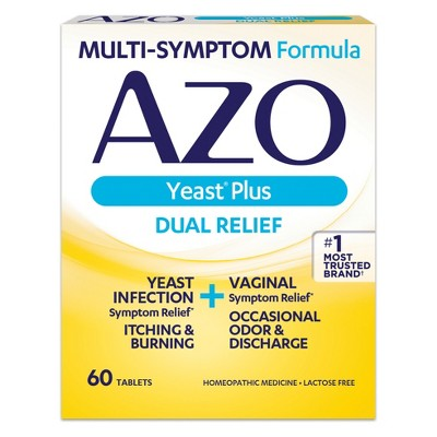 AZO Yeast Plus Dual Relief Yeast Infection + Vaginal ...