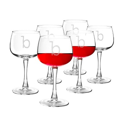 Cathy's Concepts® Personalized 13oz. Red Wine Glasses (Set of 6)-B