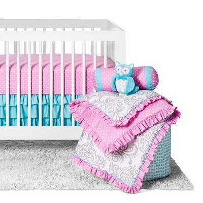 Sweet Jojo Designs Crib Bedding Set - Skylar - 11pc -  Pink
