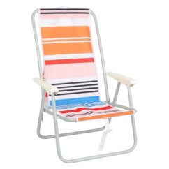Backpack Beach Chair Target Covers For High Back Dining Chairs Peach Stipe Evergreen