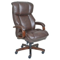 La Z Boy Big Tall Executive Leather Office Chair Black College Dorm Chairs Brown Target