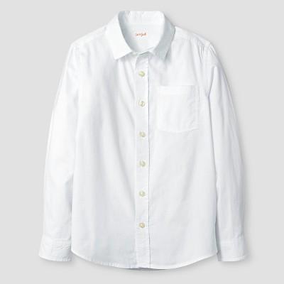 Boys' Long Sleeve Button-Down Oxford Shirt - Cat & Jack™ White