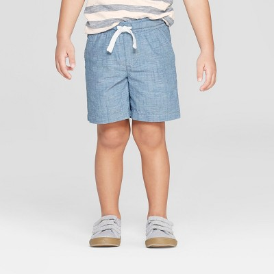 Toddler Boys' Novelty Texture Chino Shorts - Cat & Jack™ Blue