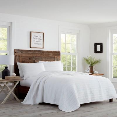 Foster Quilt Set White - Stone Cottage