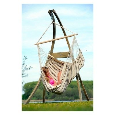 hanging chair stand wedding covers hire perth atlas wood byer of maine target