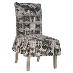 Dining Chair Covers Target Boon Pedestal High Roman Key Slipcover