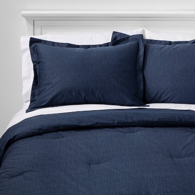 Family Friendly Solid Comforter & Pillow Sham Set - Threshold™