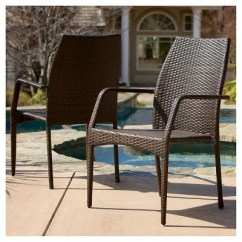 Wicker Patio Chair Set Of 2 French Leather Club Canoga Chairs Multi Brown Target