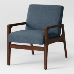Upholstered Chairs With Wooden Arms Black Wood Desk Chair Peoria Arm Blue Project 62 Target