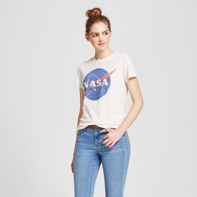 Women's NASA® Graphic T-Shirt Cream - Zoe+Liv (Juniors')