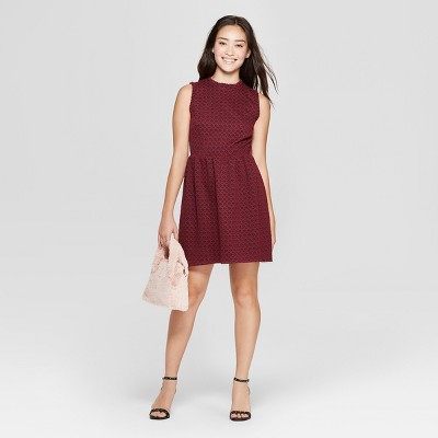 Women's Sleeveless Knit Jacquard Dress - Xhilaration™