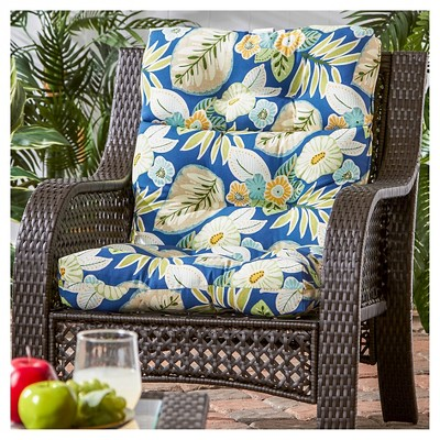 high back lawn chair cushions computer white outdoor cushion marlow greendale home fashions target