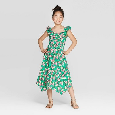 Girls' Butterfly Knit Maxi Dress - Cat & Jack™ Green