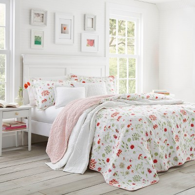 Libbey Quilt Set Red - Laura Ashley