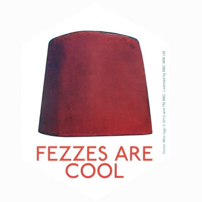 Doctor Who Sticker: Fezzes Are Cool