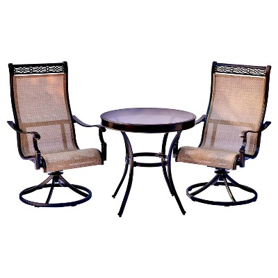 target sling chair tan upholstered desk with wheels monaco 3pc round metal patio bistro set hanover