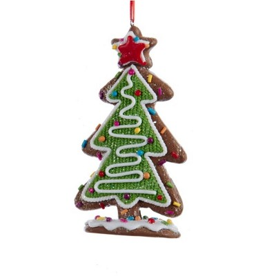 """Kurt S. Adler 5"""" Green and White Decorative Tree with Multi-Colored Candy and Star Topper Christmas Ornament"""