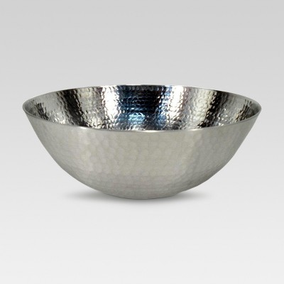 Serving Bowl Hammered Stainless Steel - Threshold™