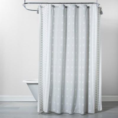 Printed Shower Curtain Gray - Opalhouse™