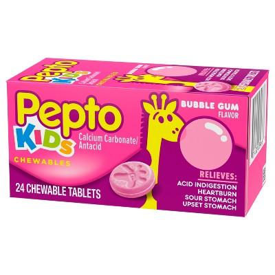 Pepto Children's Antacid Bubble Gum Chewable Tablet 24ct ...