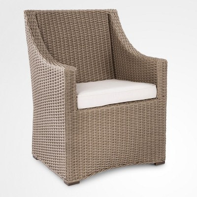 comfortable wicker chairs childs chair premium edgewood patio dining smith hawken target