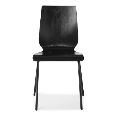 stackable chairs for less teal adirondack plastic bent plywood stacking chair black room essentials target