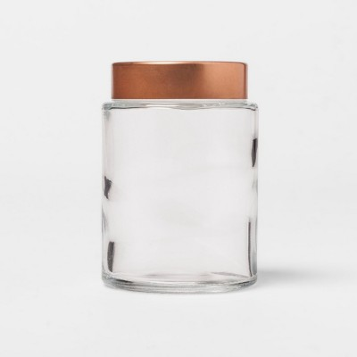 Round Glass Spice Jar with Copper Metal Lid - Threshold™