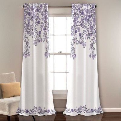 "84""x52"" Tanisha Room Darkening Window Curtain Panels Set - Lush Decor"