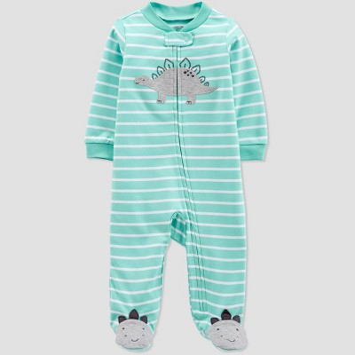 Baby Boys' Striped Dino Sleep 'N Play One Piece Pajama - Just One You® made by carter's Green/Gray